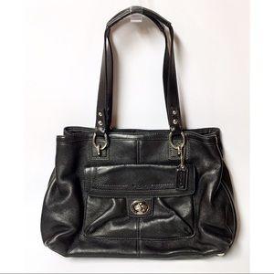 Coach Black Leather Penelope Carryall Satchel Bag